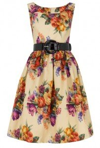 fifties floral dress by Suzannah