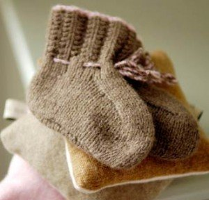Kate Samphier knitted baby shoes