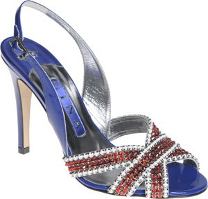 Jenny shoe in red, white & blue by Gina