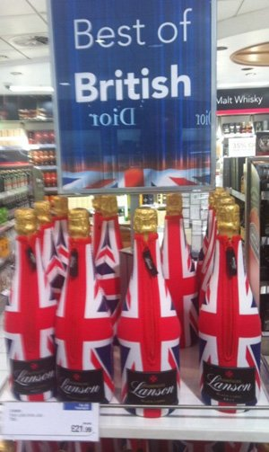 The offending Lanson display at Gatwick airport