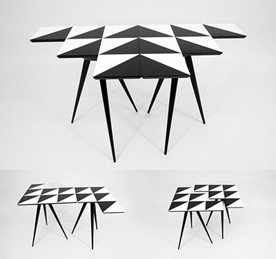 Hawk 6 Interlocking tables by Rockman & Rockman