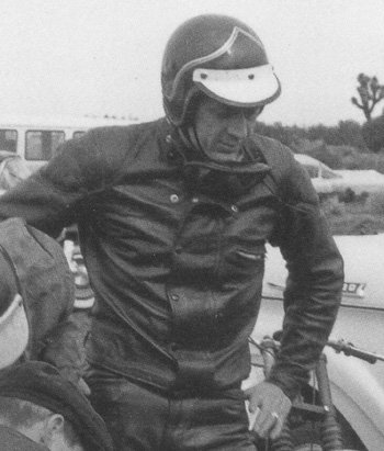 Steve McQueen in his Lewis Leathers Universal Racer