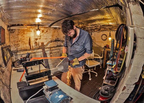 Ben in the Blok workshop