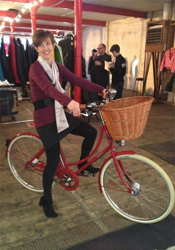 Gillian Tusting tests the Pashley merchandise