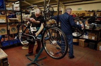 Bicycle making at Pashley