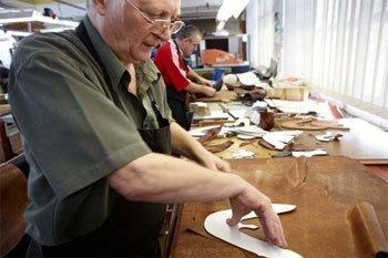 Shoe making at Jeffrey West