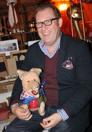 Sean from Well & Truly with Basil Brush