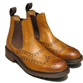 Cheaney Brogue Chelsea Boot