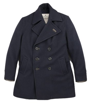 Private White Navy Double Breasted Trenchcoat