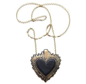 Rosita Bonita leather heart necklace