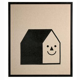 Smiley House canvas by Kat Leuzinger
