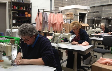 Sewing ladies at Tempus Clothing