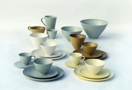 Ceramic tableware by Stuart Carey