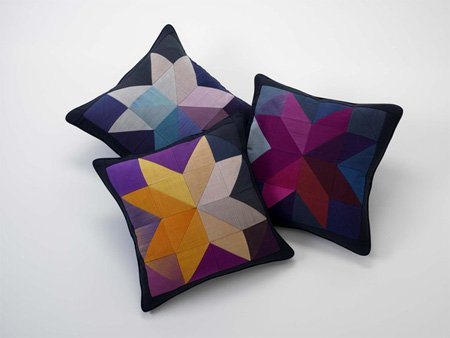 Chromascope cushion by Ptolemy Mann