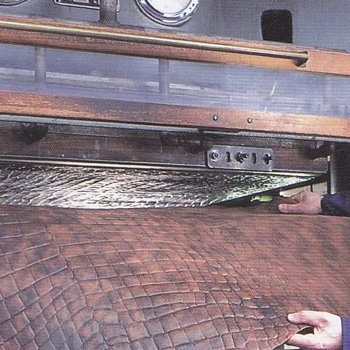 Pearce Leather croc print