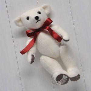Scarlet Argent Cashmere Teddy Bear