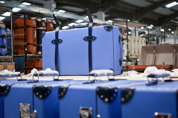 Globe-Trotter suitcases ready for inspection
