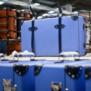 Globe-Trotter suitcase