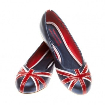 British Flat Shoe: Union Flag