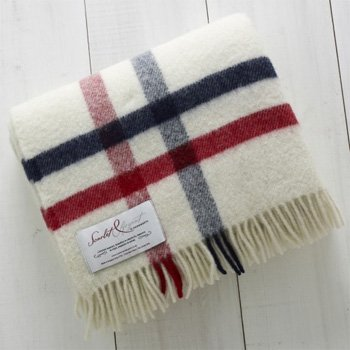Hainsworth Scarlet Argent: Albion Throw