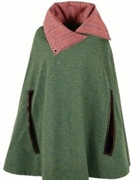 Liberty Kelly: Green Tweed Poncho