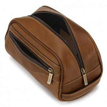 Tusting: Leather Washbag