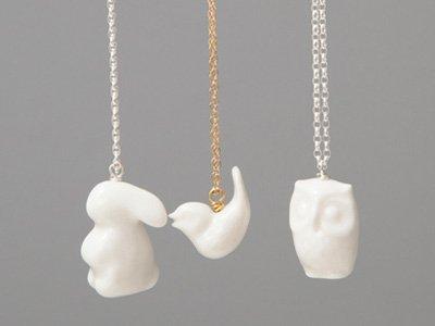Porcelein pendants by Me Me Me
