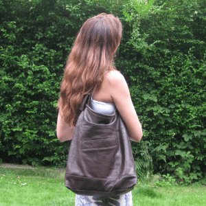 Upcycled Leather Bag by Aly Bond