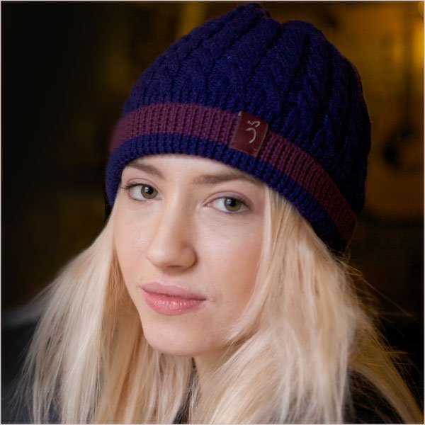 Pure Alpaca Cable Knit Hat by Plum of London