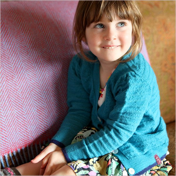 Children's Pure Royal Alpaca Cardigan by Plum of London