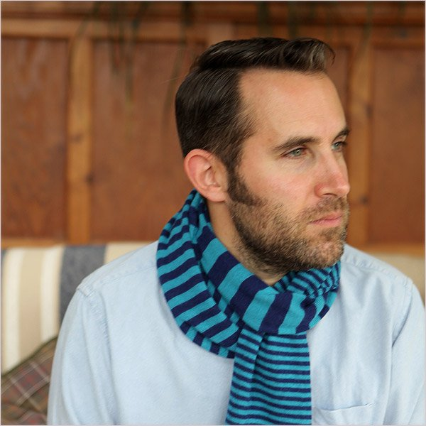 Pure Royal Alpaca Knitted Scarf by Plum of London
