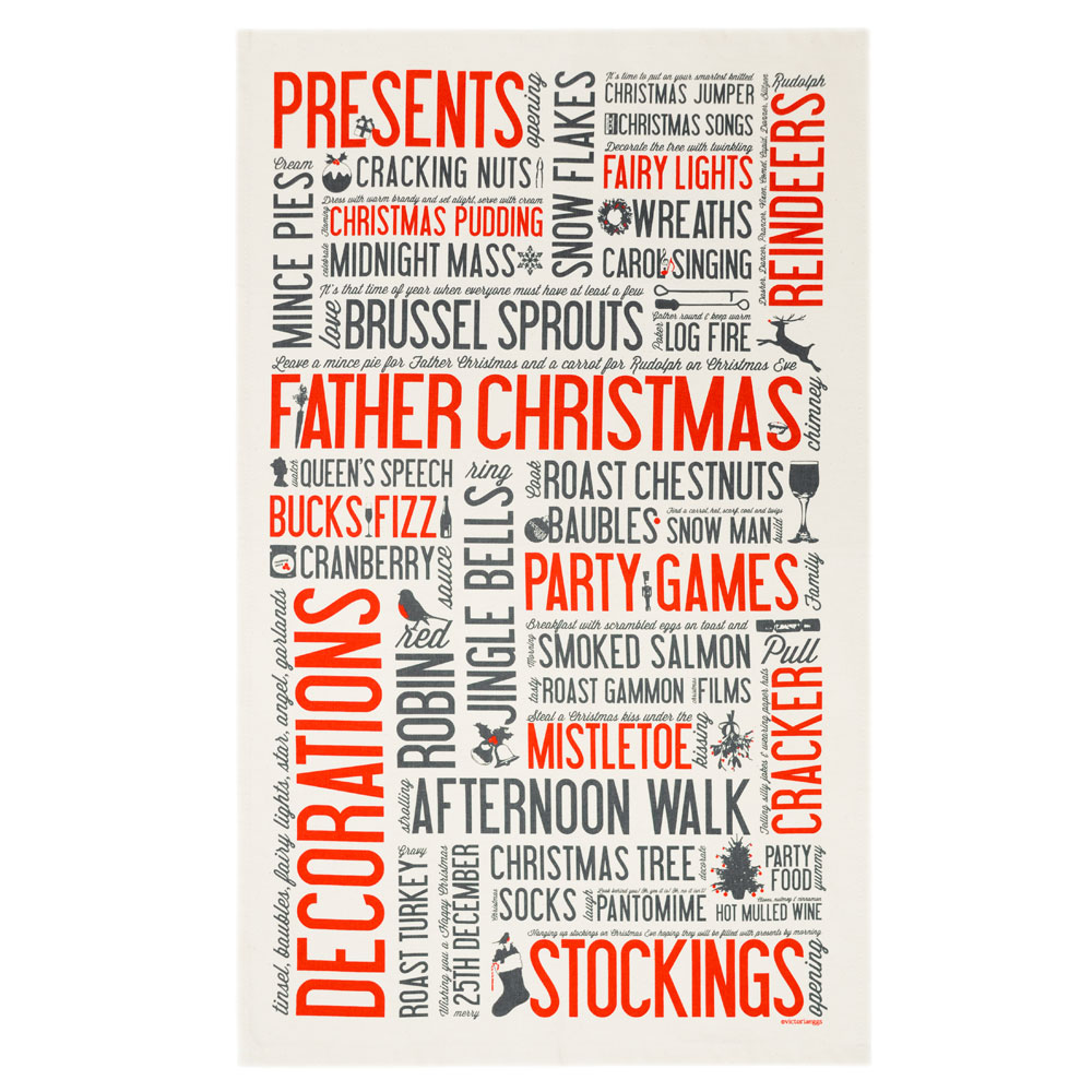 Christmas Tea Towels uk Christmas Tea Towel