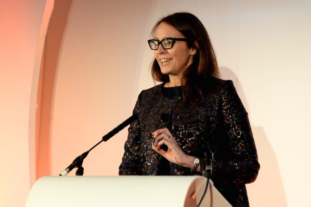 Caroline Rush, Chief Executive of the British Fashion Council, discussing high end manufacturing