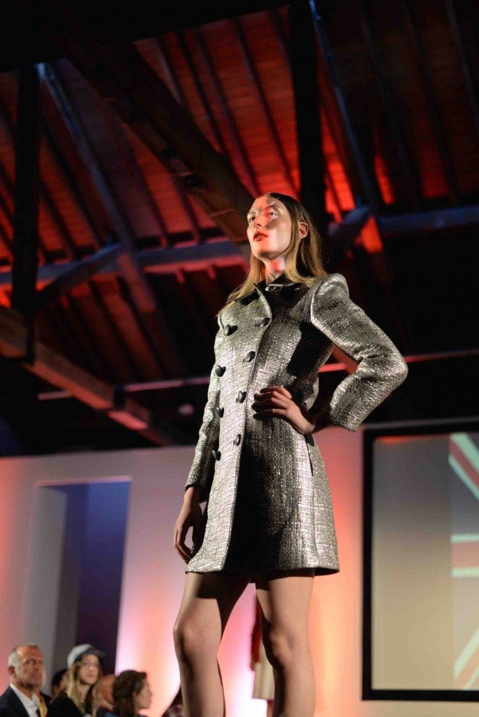 A stunning coat made in Leicester - part of our fashion show