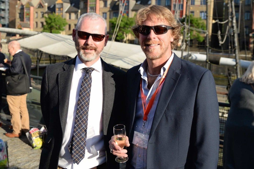 The two Simons - Mr Colbeck from M&S and Mr Platts from ASOS - enjoying the sunshine