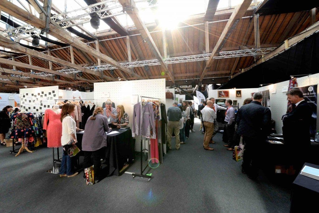 Sun streaming into the trade show on day 2 - we WILL have air-conditioning next time!