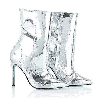 Marion Ayonote Atlantis silver metallic boot