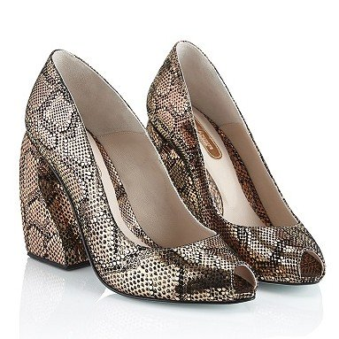 Marion Ayonote Avalon bronze metallic peep toe
