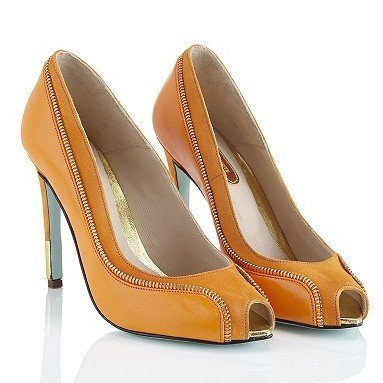 Marion Ayonote Monroe orange high heel