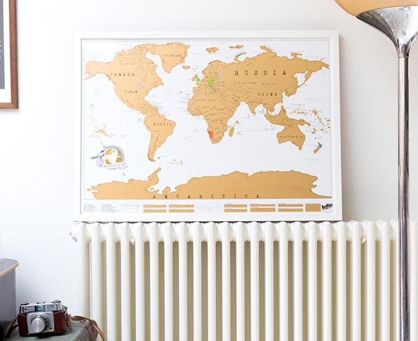 ScratchMapFramedOriginal Make It British - Scratch map frame