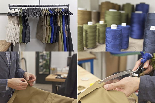 From start to finish. Alexander creates his waistcoats in his Newcastle studio