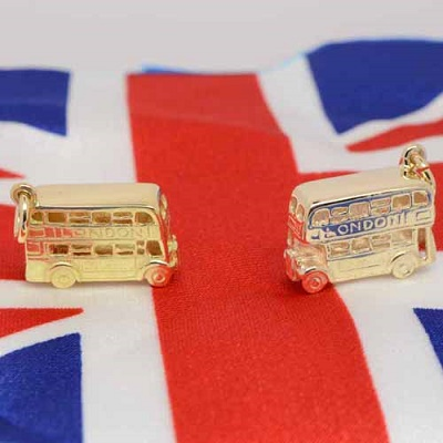 Perfectcharm gold London Buses, handcrafted in the UK