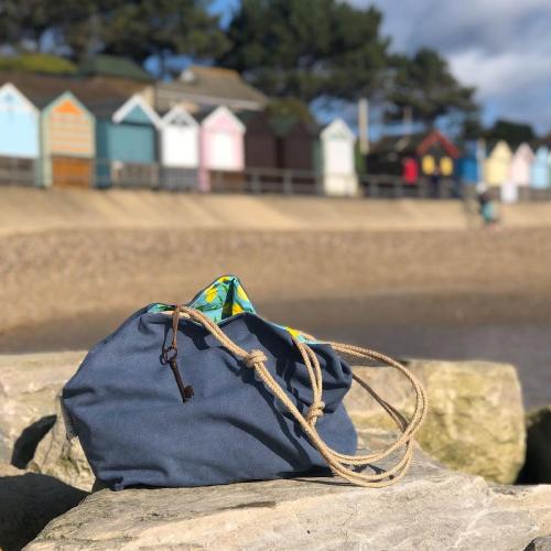 Annie with Alex Beach Bags