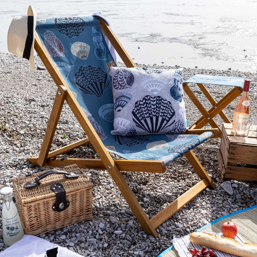 Perkins and Morley beach deck chairs, beachwear and accessories