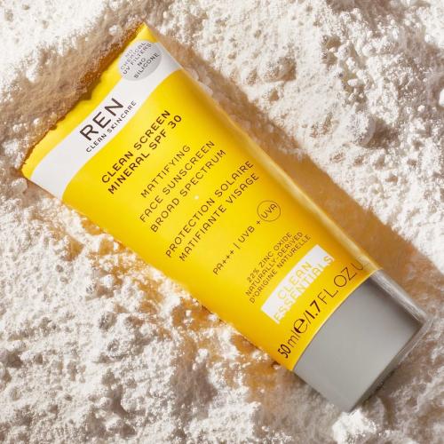 REN Skincare sun cream, beachwear and accessories