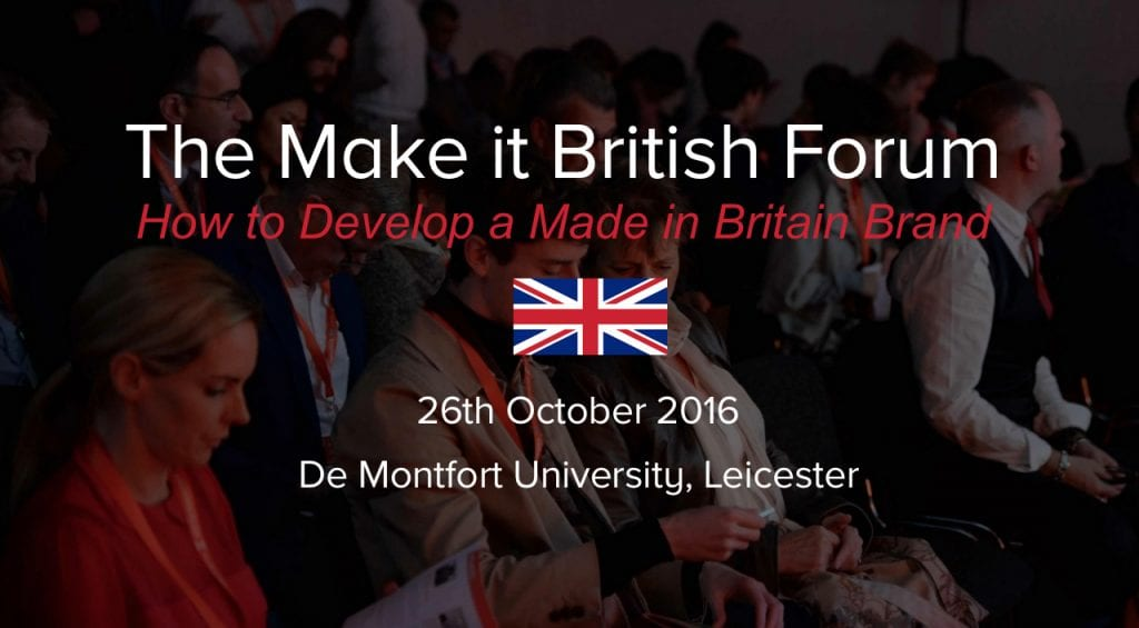 develop a made in britain brand