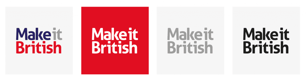 the new make it british logo