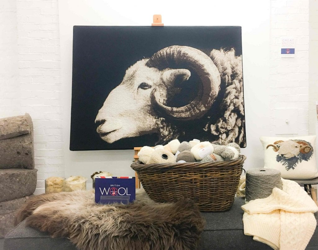 British Wool stand at Meet the Manufacturer