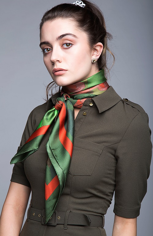 Silk scarf by Zana prints