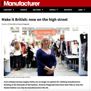 Interview with Kate Hills in The Manufacturer